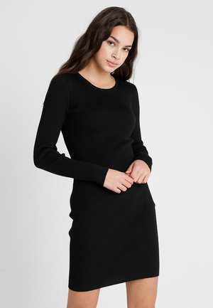 SALLY LONG SLEEVE DRESS - Pouzdrové šaty - black