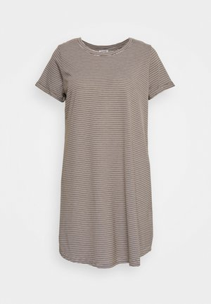TINA DRESS - Jerseykjole - white/dark olive