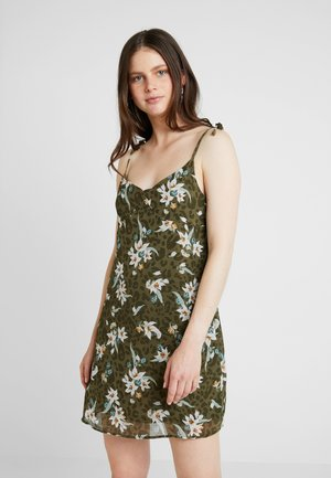 VALENTINE MINI DRESS - Korte jurk - burnt olive