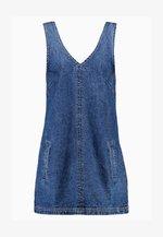 FRONT POCKET PINAFORE - Denní šaty - mid blue