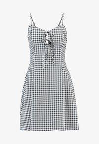 Cotton On - AGNES TIE FRONT MINI DRESS - Robe d'été - Grey - 4