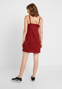 Cotton On - TIE FRONT MINI DRESS - Robe en jersey - rustic red - 2