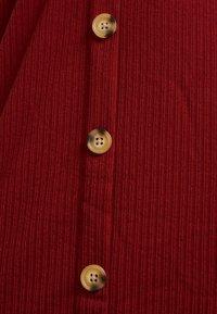 Cotton On - TIE FRONT MINI DRESS - Robe en jersey - rustic red - 5