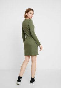 Cotton On - GRACE HIGH NECK LONG SLEEVE MINI DRESS - Shift dress - soft khaki - 2