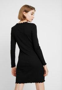 Cotton On - GRACE HIGH NECK LONG SLEEVE MINI DRESS - Etuikjole - black - 2