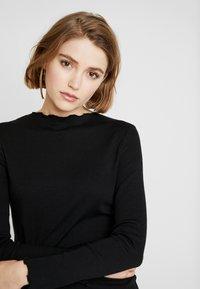 Cotton On - GRACE HIGH NECK LONG SLEEVE MINI DRESS - Etuikjole - black - 4