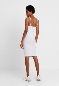 Cotton On - LOW BACK STRAPPY MIDI DRESS - Shift dress - grey marle - 2