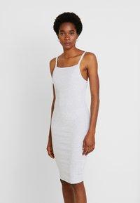 Cotton On - LOW BACK STRAPPY MIDI DRESS - Shift dress - grey marle - 0