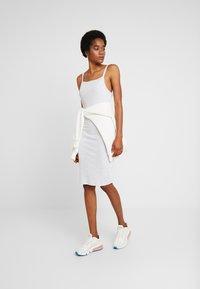 Cotton On - LOW BACK STRAPPY MIDI DRESS - Shift dress - grey marle - 1
