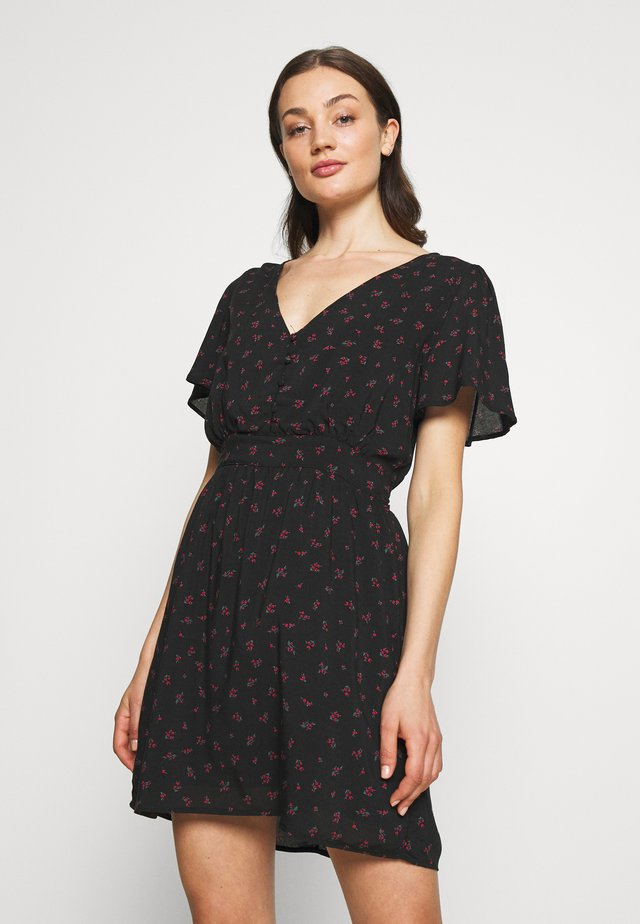 WILLOW TEA DRESS - Korte jurk - black