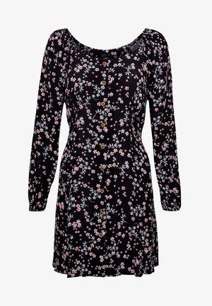 NATASHA SQUARE NECK MINI DRESS - Skjortekjole - millie black