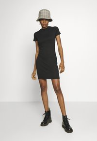 Cotton On - TOBY MINI DRESS - Shift dress - black - 2