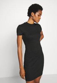 Cotton On - TOBY MINI DRESS - Shift dress - black - 4