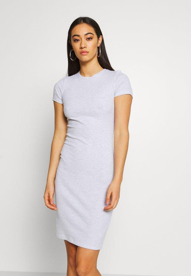 GISELLE SHORT SLEEVE DRESS - Shift dress - grey
