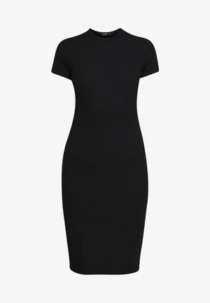 GISELLE SHORT SLEEVE DRESS - Etuikjoler - black