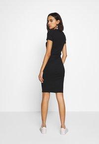 Cotton On - GISELLE SHORT SLEEVE DRESS - Shift dress - black - 2