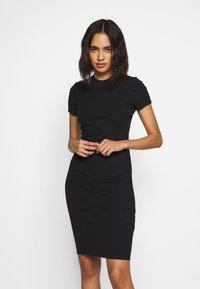Cotton On - GISELLE SHORT SLEEVE DRESS - Shift dress - black - 0