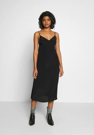 WOVEN VERONICA DRESS - Denní šaty - black