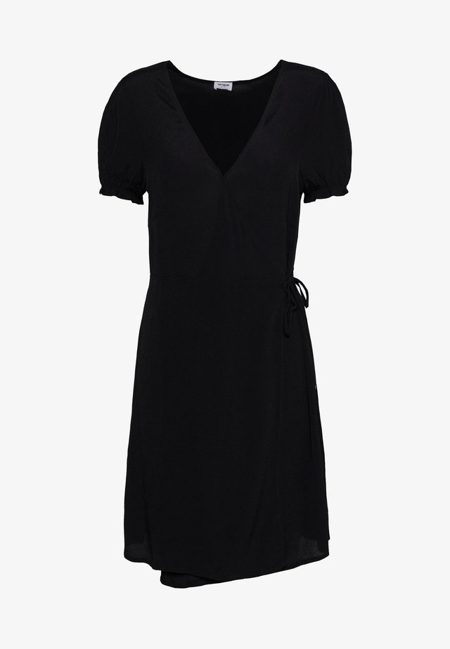 AMY WRAP MINI DRESS - Sukienka letnia - black