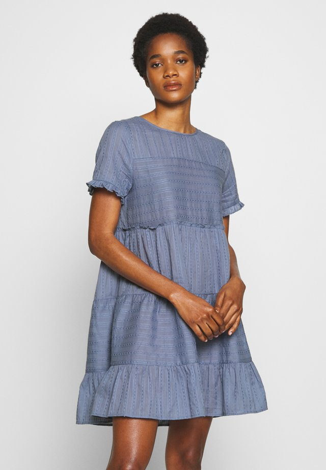 SCARLET TIERED DRESS - Day dress - light-blue denim
