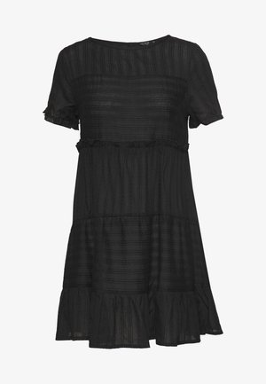 SCARLET TIERED DRESS - Denní šaty - black