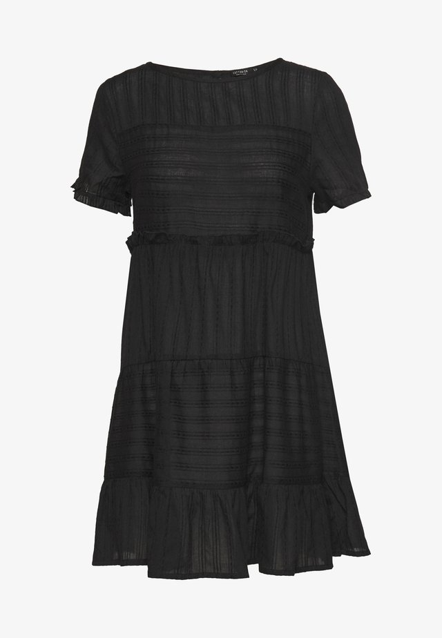 SCARLET TIERED DRESS - Day dress - black