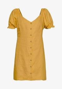 Cotton On - AURORA SHORT SLEEVE MINI DRESS - Košilové šaty - mineral yellow - 4