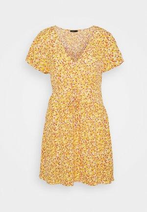 MARISSA GATHERED FRONTMINI DRESS - Day dress - white/mango