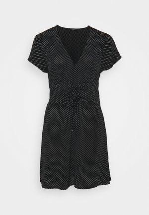 MARISSA GATHERED FRONTMINI DRESS - Korte jurk - tiffany black