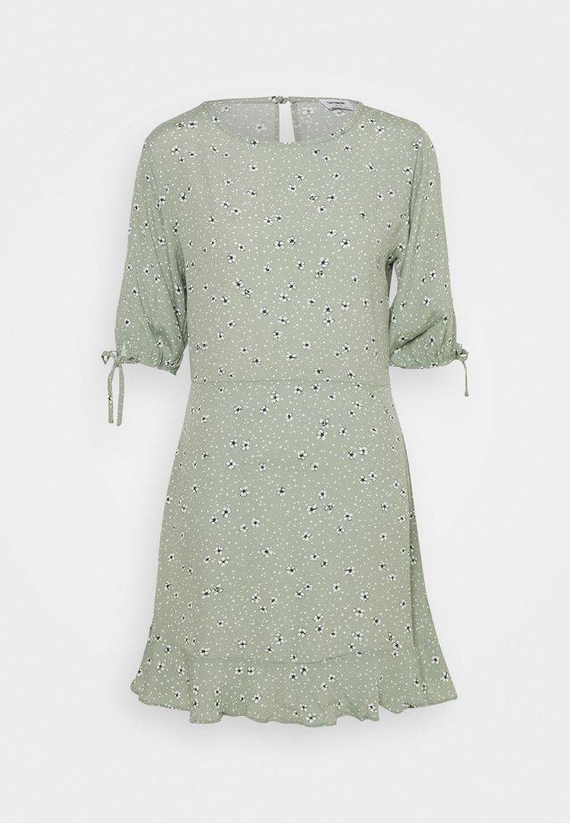 LUCIE SLEEVE MINI DRESS - Day dress - ditsy jade
