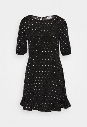 LUCIE SLEEVE MINI DRESS - Korte jurk - black