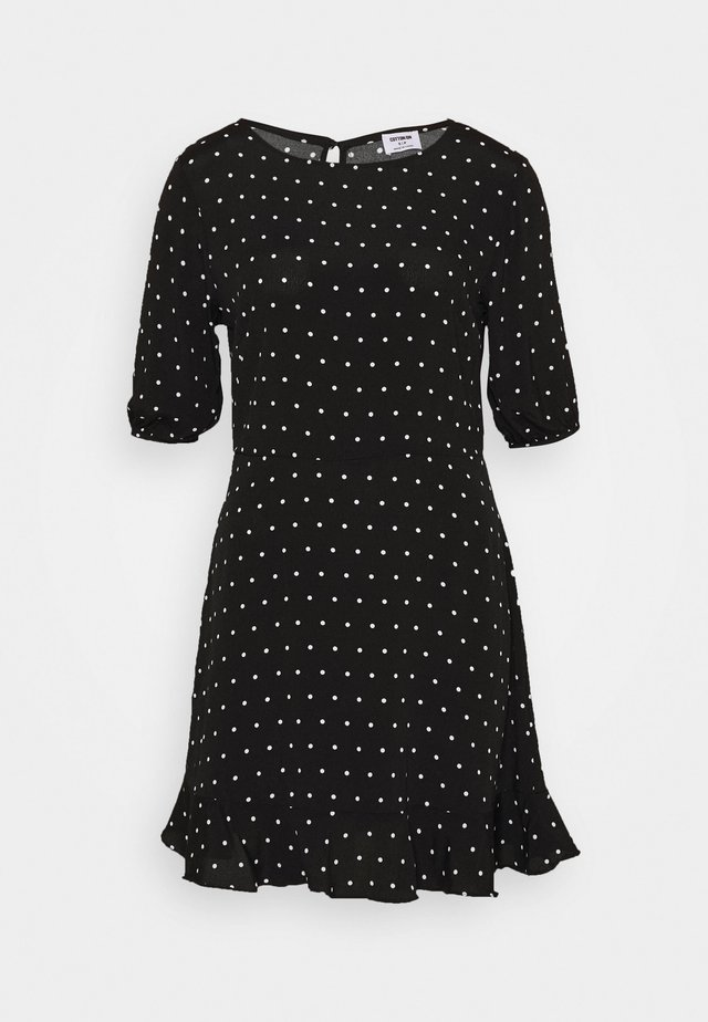 LUCIE SLEEVE MINI DRESS - Day dress - black