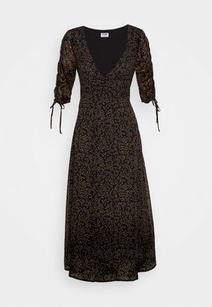 ROUCHED MIDI DRESS - Maxi dress - maya ditsy black