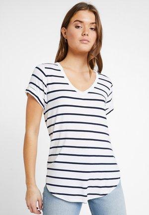 KARLY SLEEVE V NECK - T-shirt basique - white/moonlight