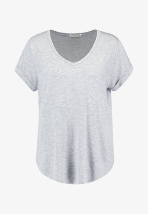 KARLY SLEEVE V NECK - T-Shirt basic - grey marle