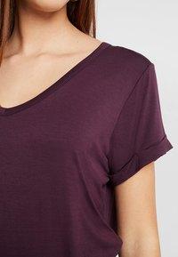Cotton On - KARLY SLEEVE V NECK - T-shirts - winetasting - 5