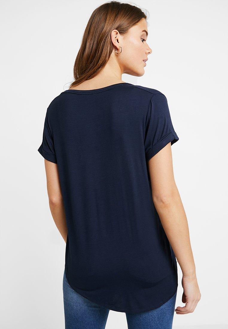 Cotton On KARLY SLEEVE V NECK - T-shirts - moonlight