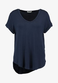 Cotton On - KARLY SLEEVE V NECK - T-shirts - moonlight - 4