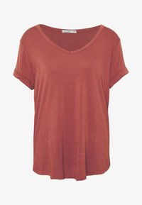 Cotton On - KARLY SLEEVE V NECK - T-shirts - mahogany - 3