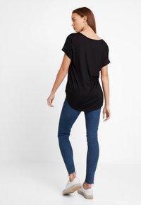 Cotton On - KARLY SLEEVE V NECK - T-shirt basic - black - 2