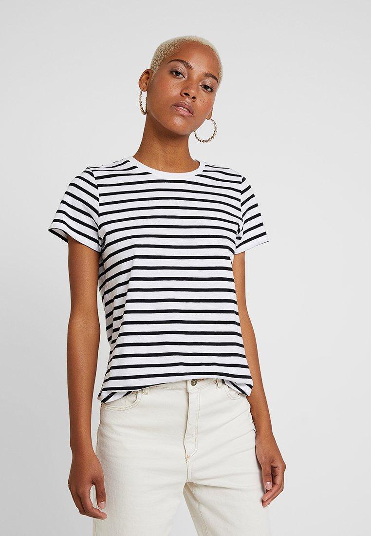 Cotton On - THE CREW - T-Shirt print - white/black