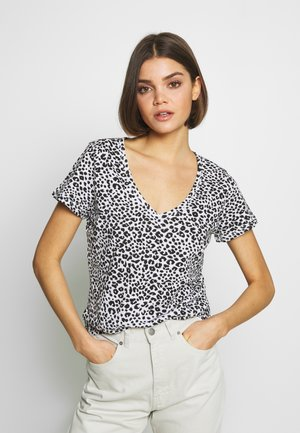 THE DEEP V - T-shirt basic - washed lilian grey marle