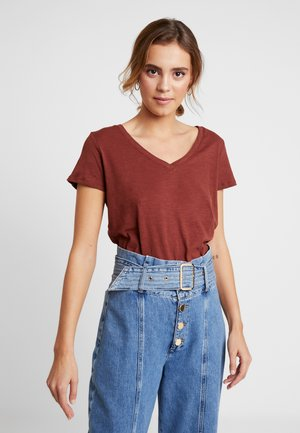 THE DEEP  - T-shirt basic - cherry mahogany