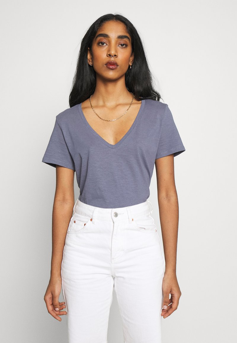 Cotton On - THE DEEP V - T-shirt basic - grisaille
