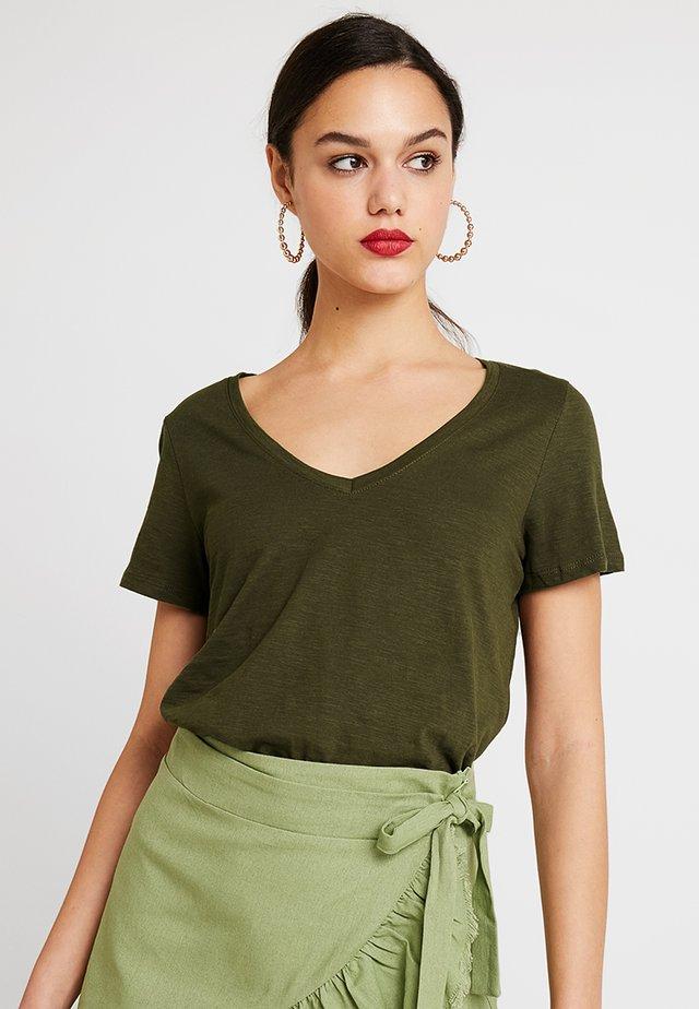 THE DEEP V - T-shirt basic - seasonal khaki