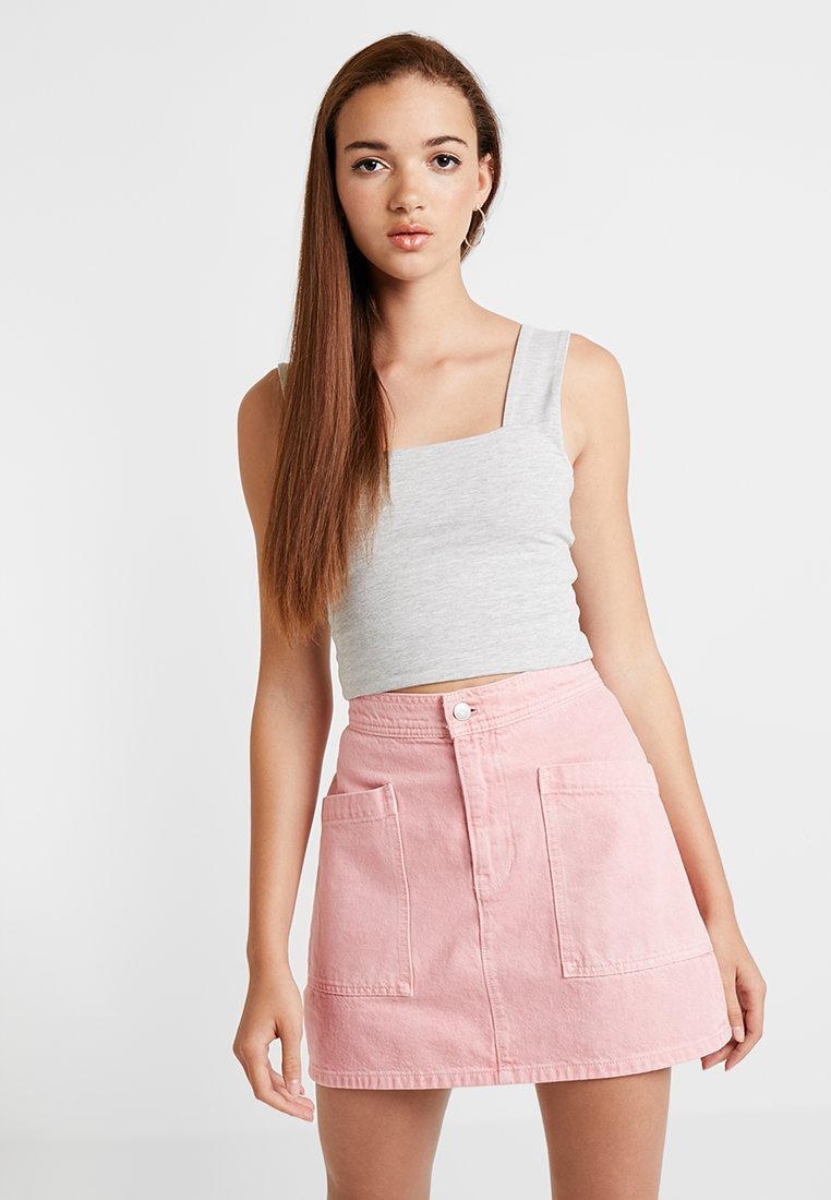 Cotton On - MOLLY WIDE STRAP TANK - Top - grey marle