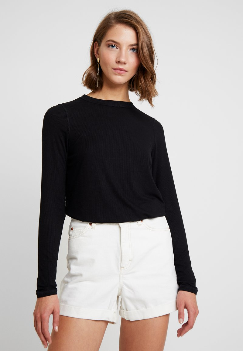 Cotton On - THE GIRLFRIEND LONG SLEEVE - Maglietta a manica lunga - black