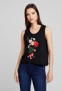 Cotton On - THE EMBELLISHED GRAPHIC TANK - Top - black - 0