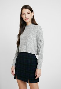 Cotton On - JASPER MOCK NECK TEXTURED LONG SLEEVE - Trui - grey - 0