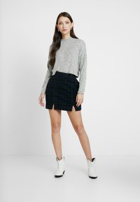 Cotton On - JASPER MOCK NECK TEXTURED LONG SLEEVE - Trui - grey - 1
